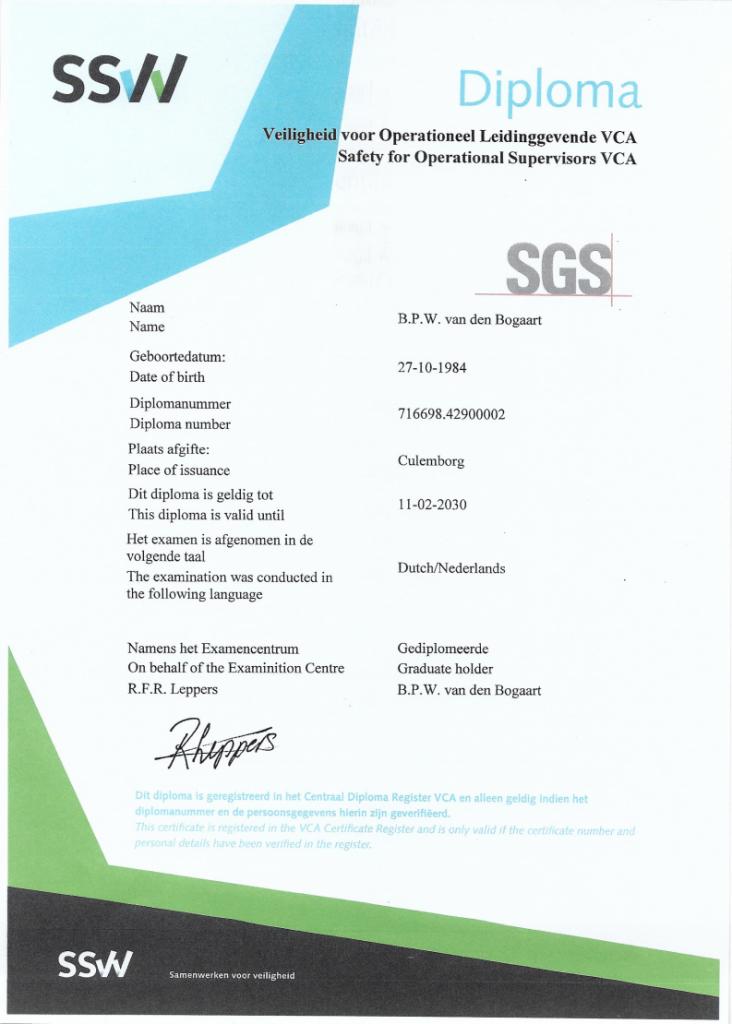 SSVV diploma